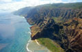 East coast of Kauai as seen from a helicopter