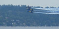Formation flight in front of Mercer Island